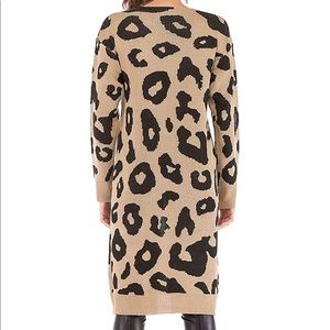 Rebellious Cactus Boutique Sweaters - Boutique Leopard Print Open Front Cardigan